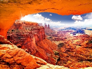 Sky, clouds, canyon