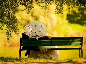 lovers, Steam, Park, Bench