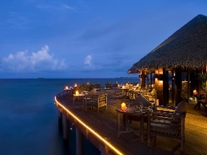 sea, Bora Bora, Restaurant