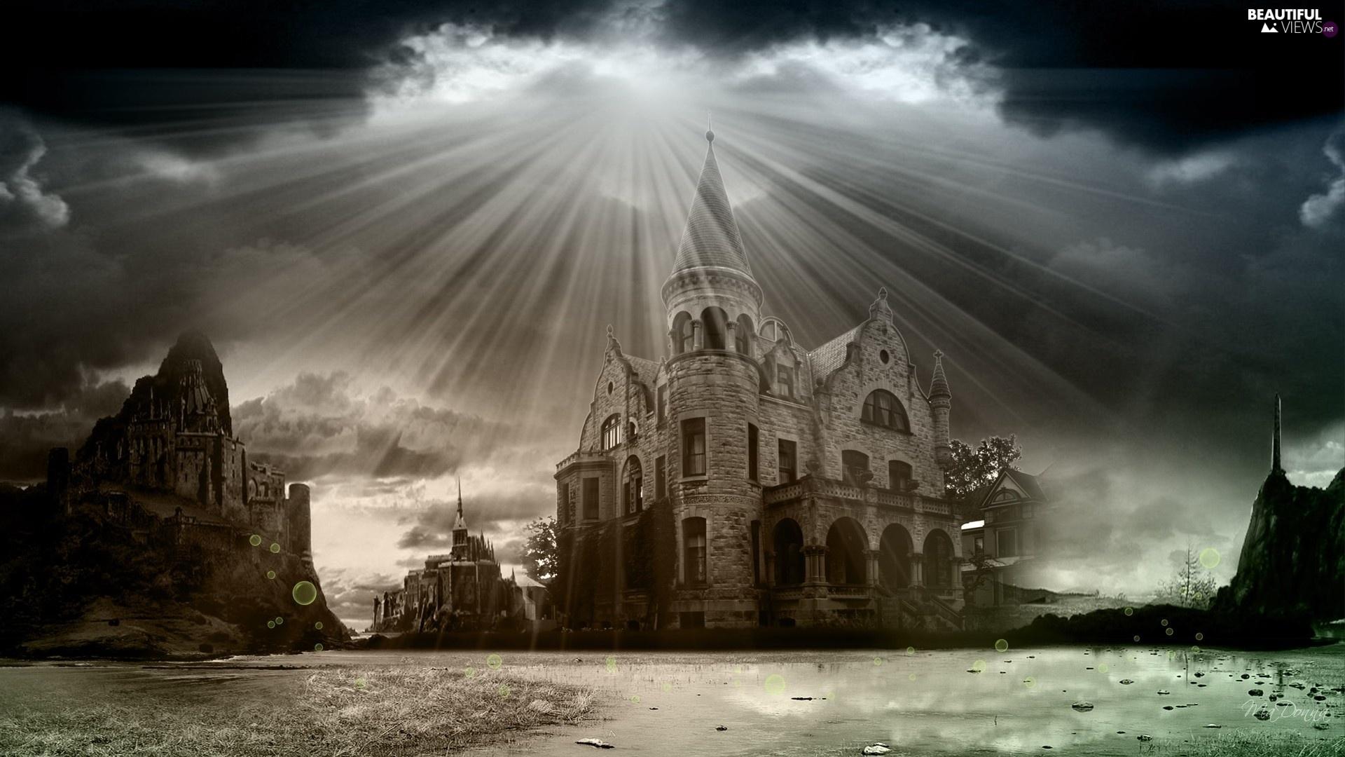 Przebijaj ce ligh art sun luminosity clouds castle for Sun castle