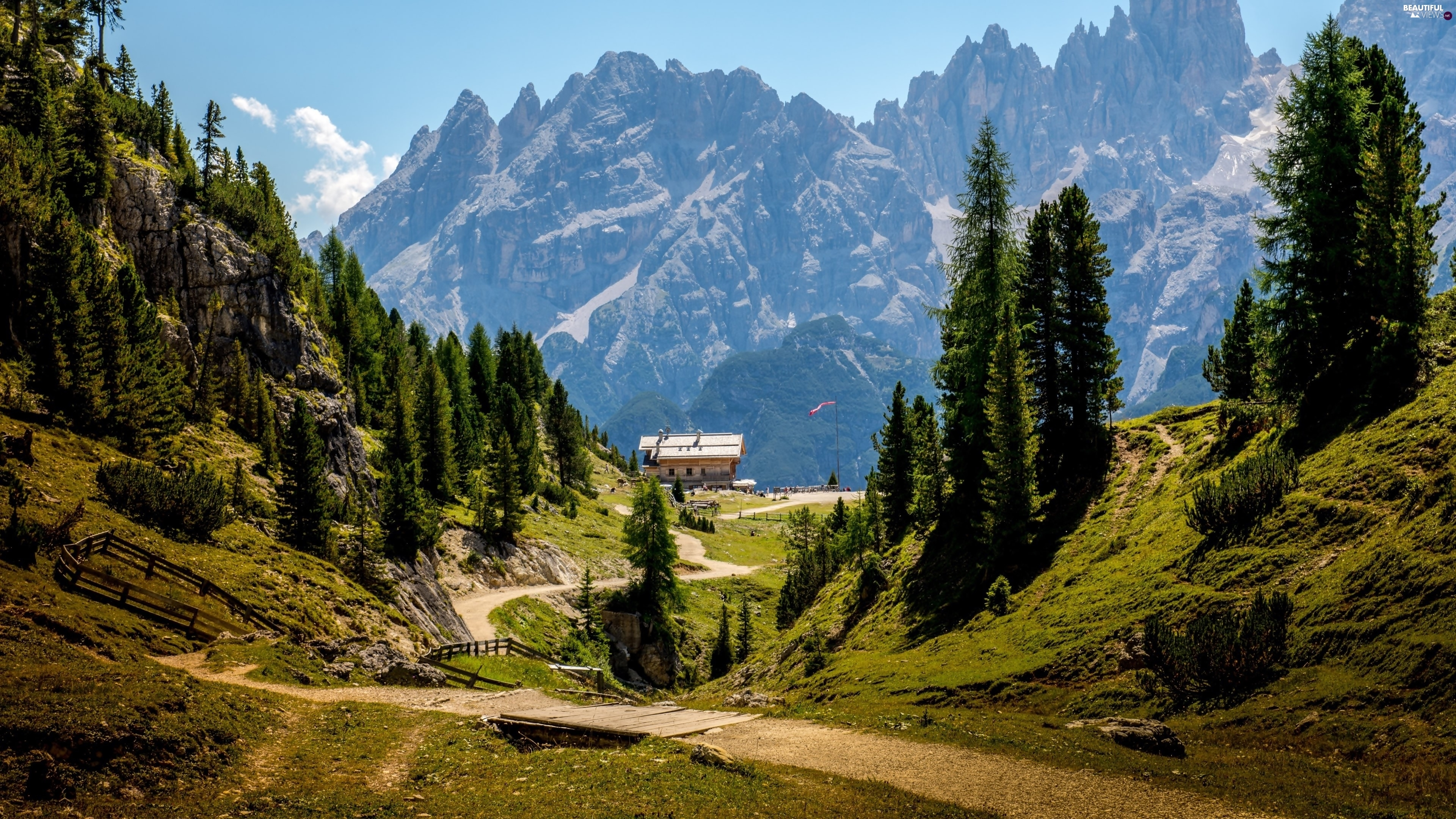 Strand dolomites mountain alps viewes italy way for Best view of dolomites