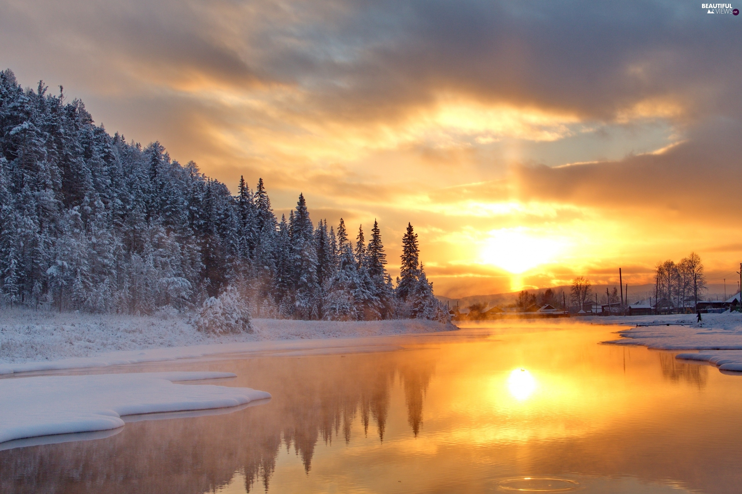 Image gallery winter sunrise - Beautiful panoramic view house to take full advantage of the scenery ...