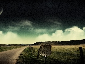 clouds, Route 66
