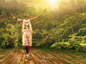 Kobe Bryant, jungle, basketball