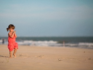 Beaches, girl, sea
