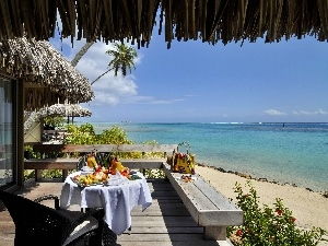 breakfast, The hotel, Ocean, Tahiti, Beaches, terrace