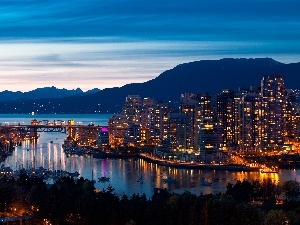 illuminated, Vancouver, Canada, Town
