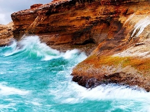 sea, Cliffs