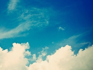 clouds, blue, Sky