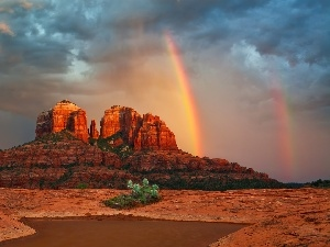 Great Rainbows, Mountains, Desert