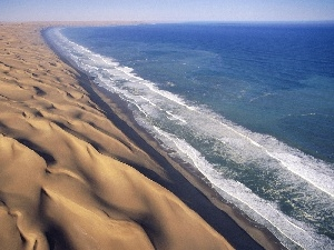 Dunes, sea, Waves