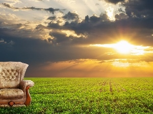 Armchair, Great Sunsets, Field