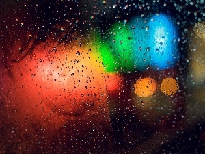 Glass, Colours, Rain