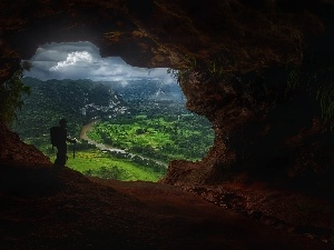 entry, View, Human, cave