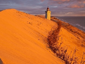 Desert, Lighthouse, maritime, Coast