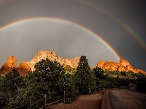 Great Rainbows, Way, mountains