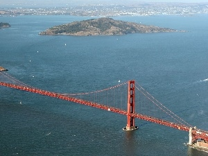 Islands, The Golden Gate Bridge, Ocean