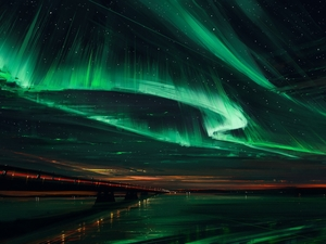 Painfography, bridge, aurora polaris