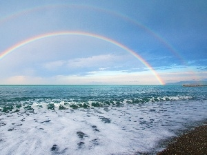 sea, Great Rainbows