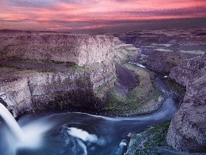 River, canyon, waterfall