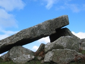 ruins, Dolmen Carreg, Britain, wales, great