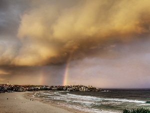 Great Rainbows, Town, sea