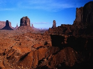 Sky, canyon, clear