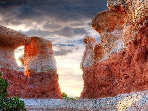 Sky, canyons, clouds