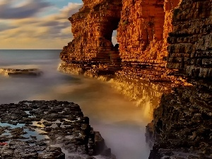 sea, Cliffs, Stones, rocks