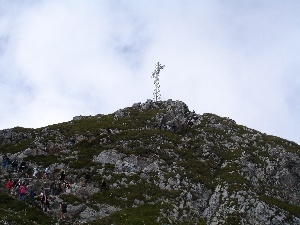 Tourists, Cross, Giewont