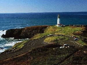 Way, Coast, Lighthouses