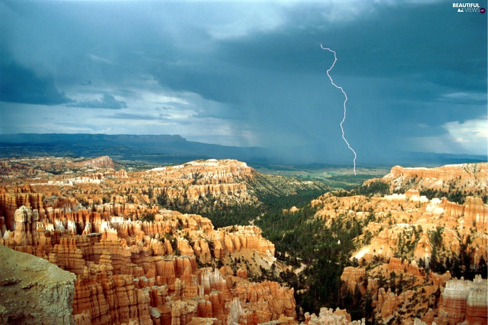 Landscapes, Mountains, canyons, Storms