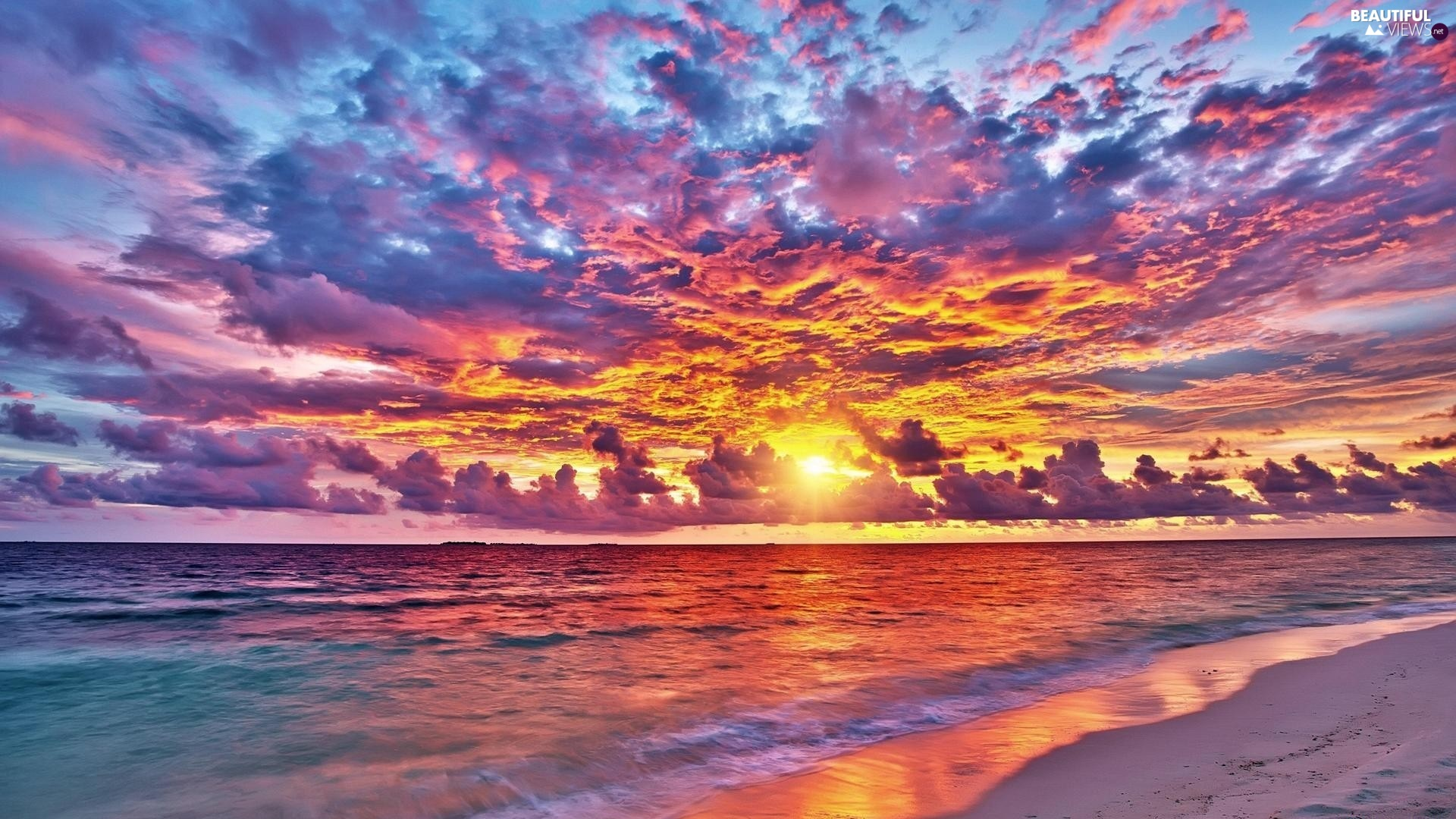 color, sea, Great Sunsets, Sky