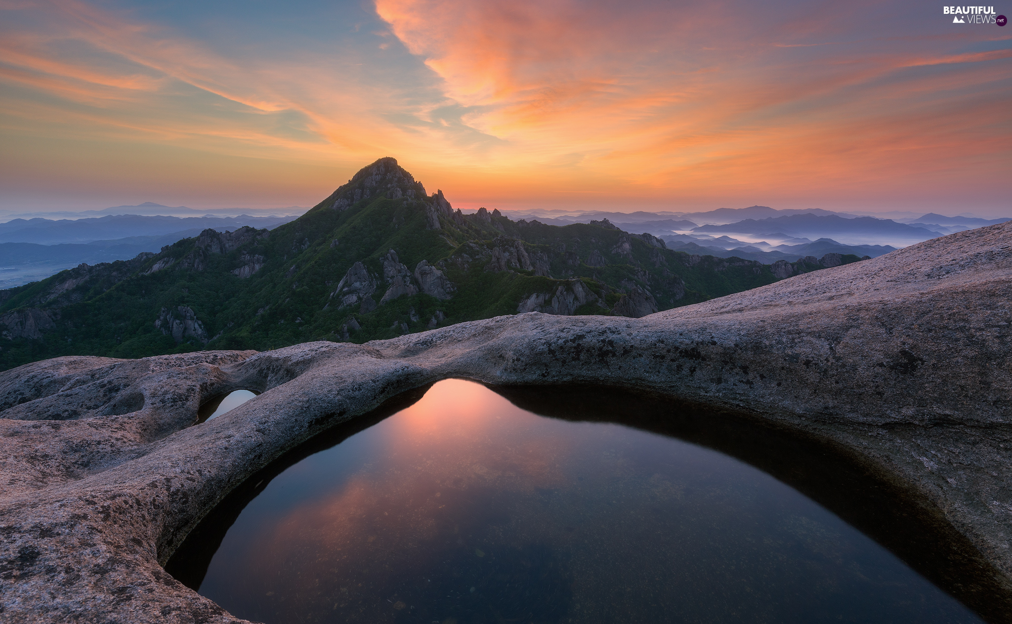 Jeolla South Province, South Korea, Mountains, Great Sunsets, Wolchulsan National Park