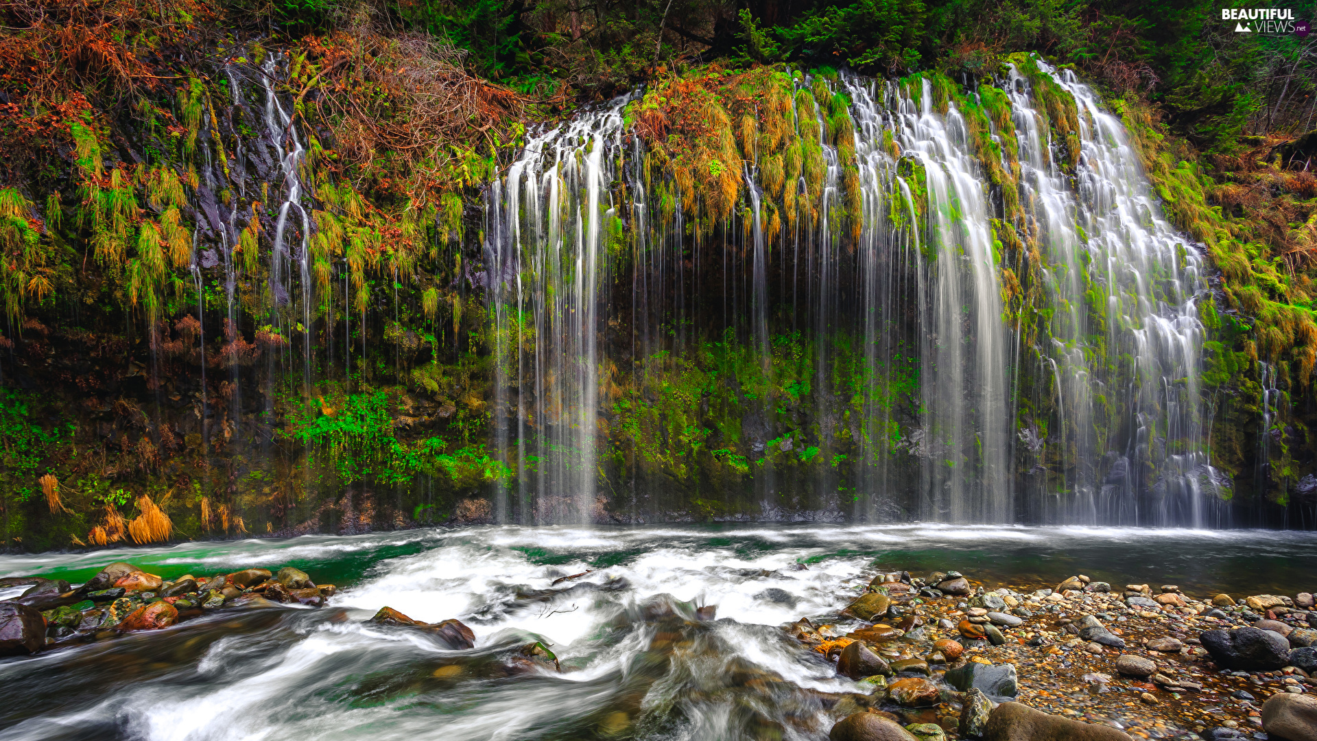 Mossbrae Falls, State of California, The United States, Stones