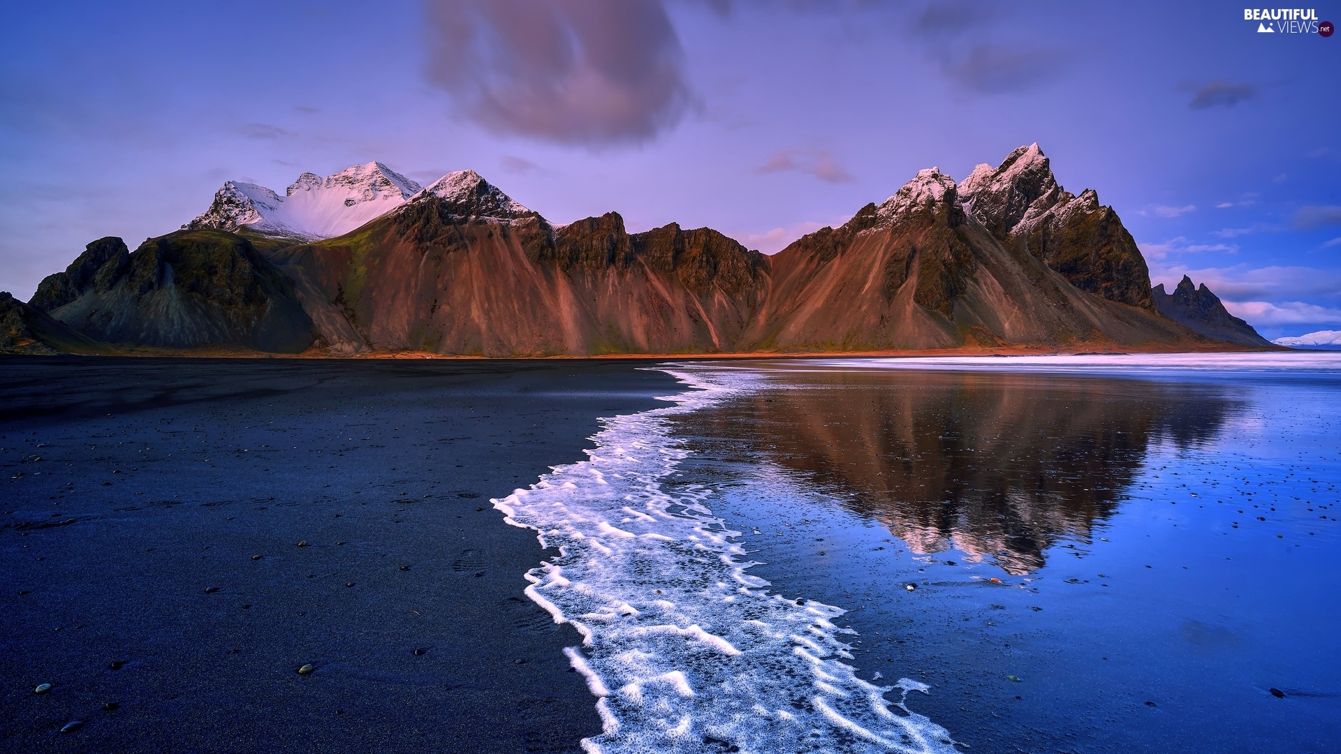 Stokksnes Beach, iceland, sea, coast, Mountains ...
