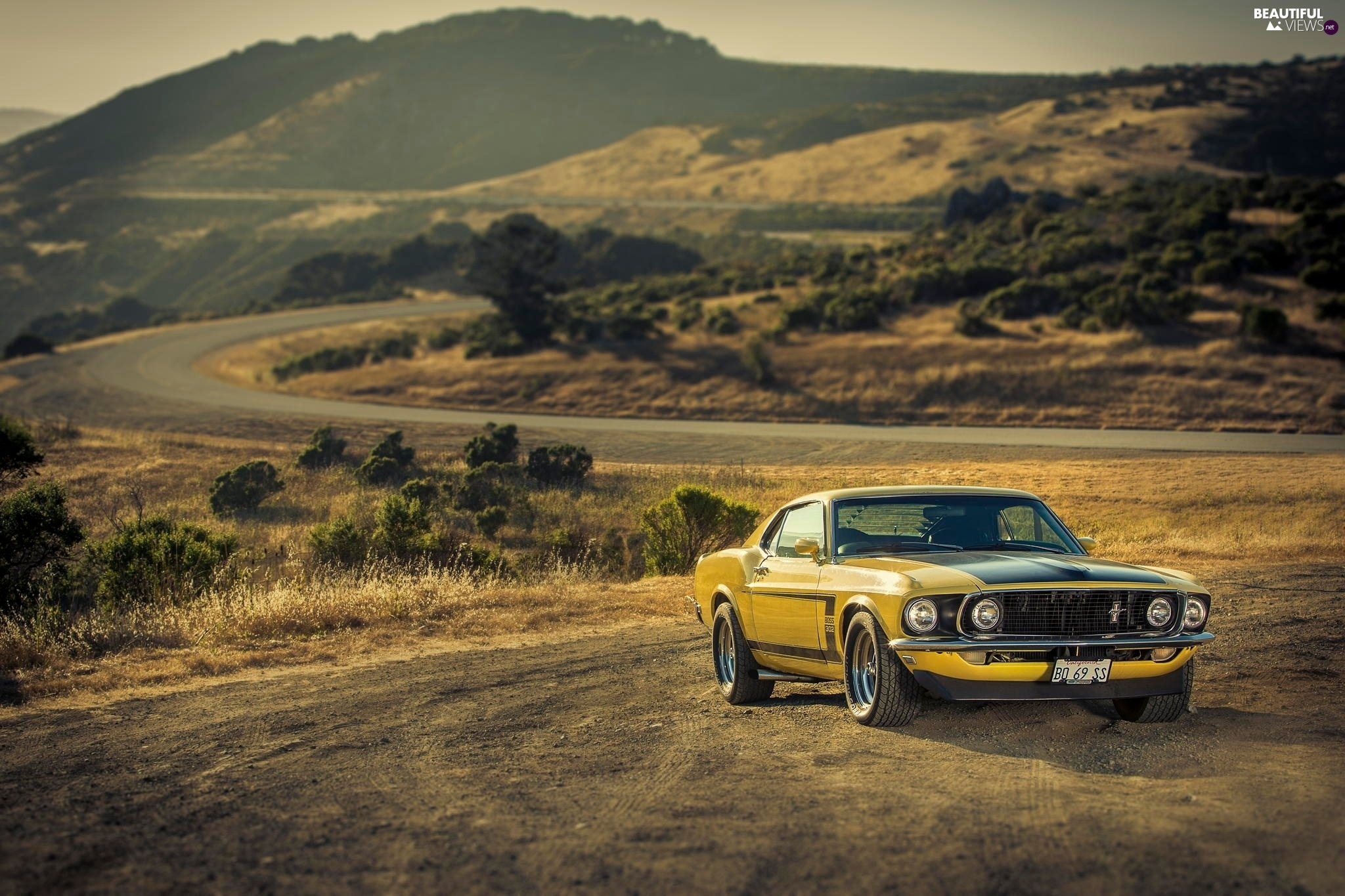 Ford, Way, Mountains, Mustang