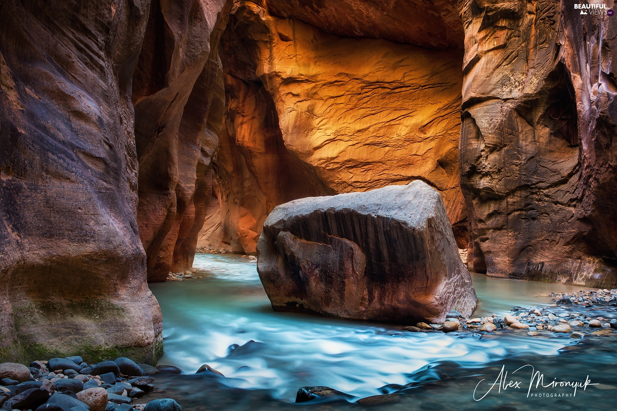 Zion Narrows Canyon, Utah State, canyon, Zion National Park, The United States, Virgin River, rocks