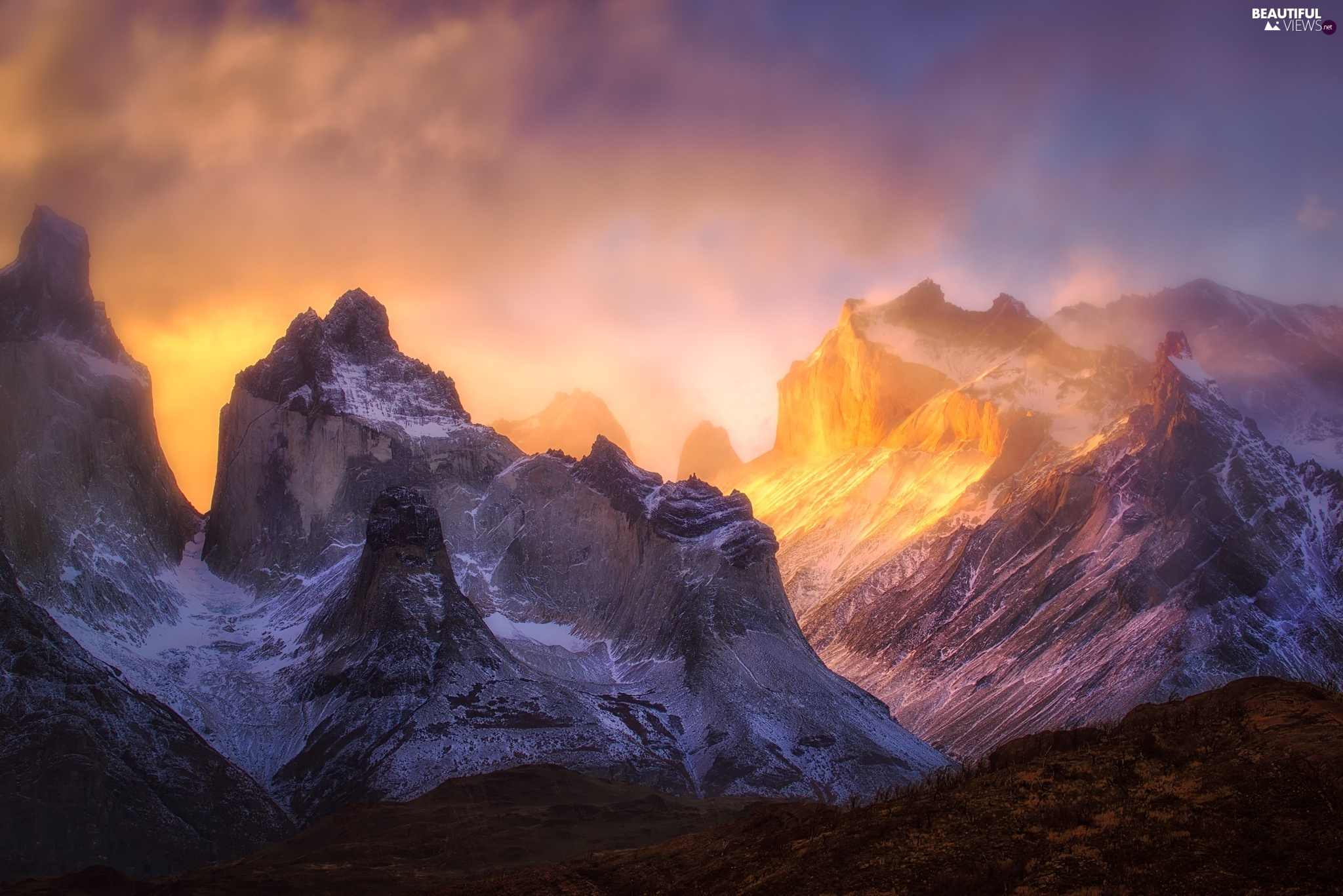 Chile, Mountains, Torres del Paine National Park, Patagonia