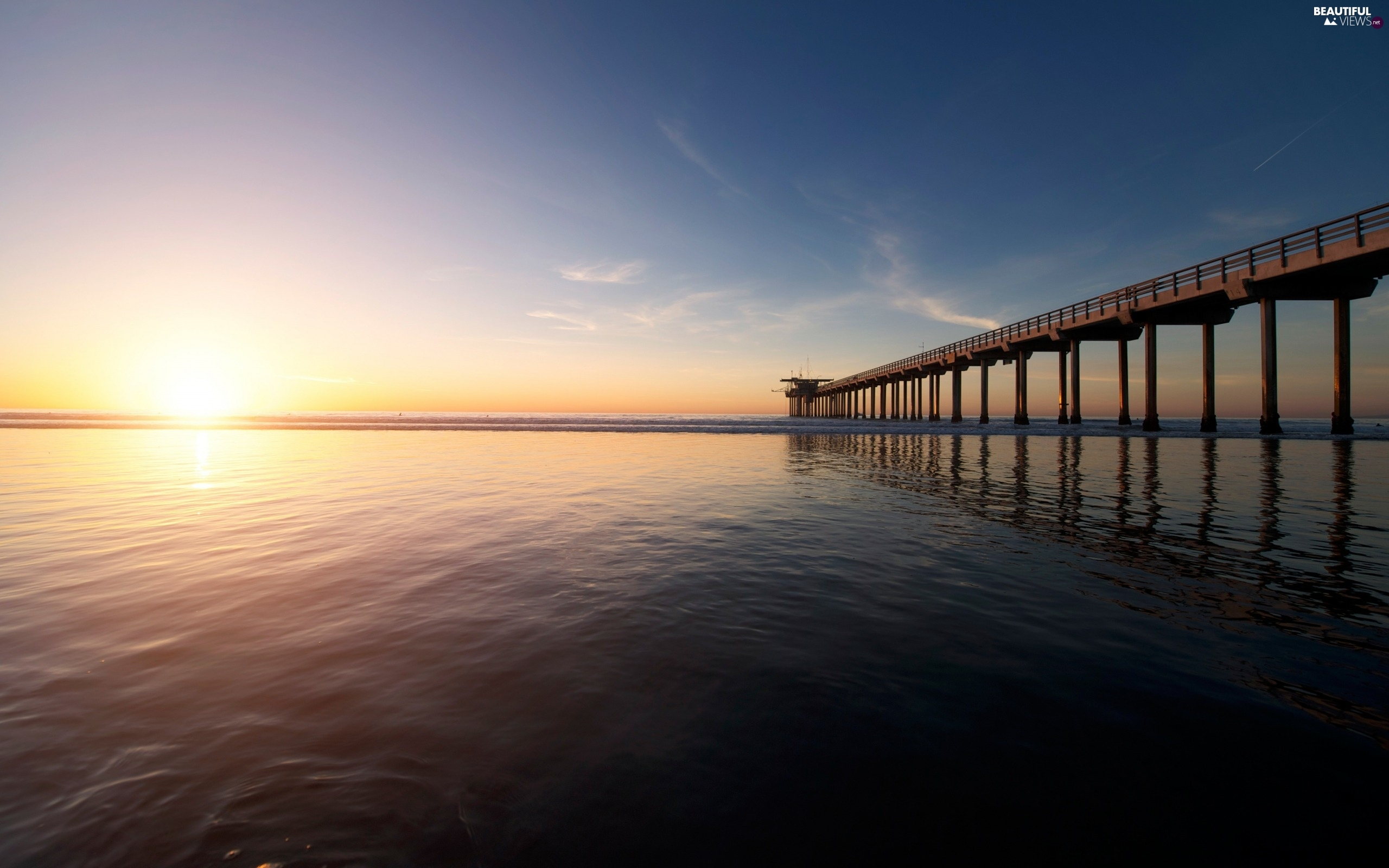 Great Sunsets, sea, pier