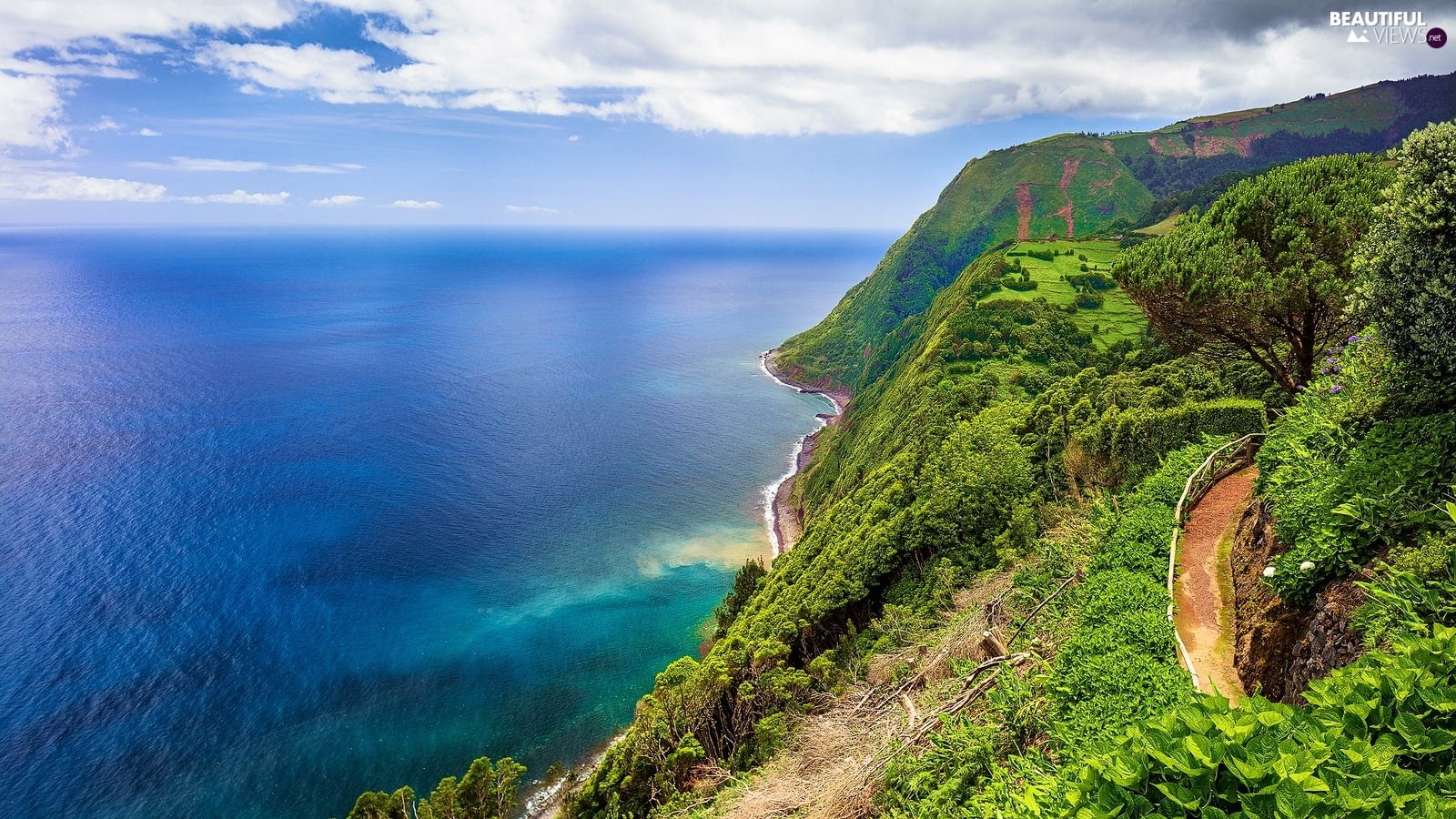 sea, Azores, Portugal, Coast