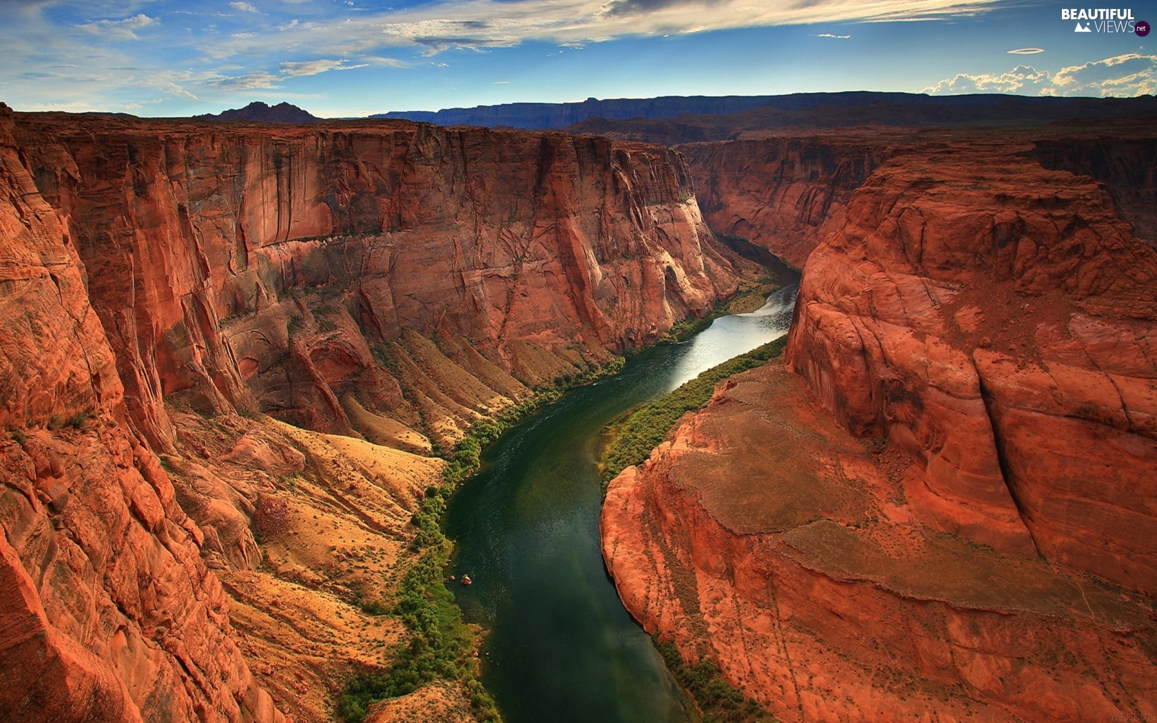 canyon, River