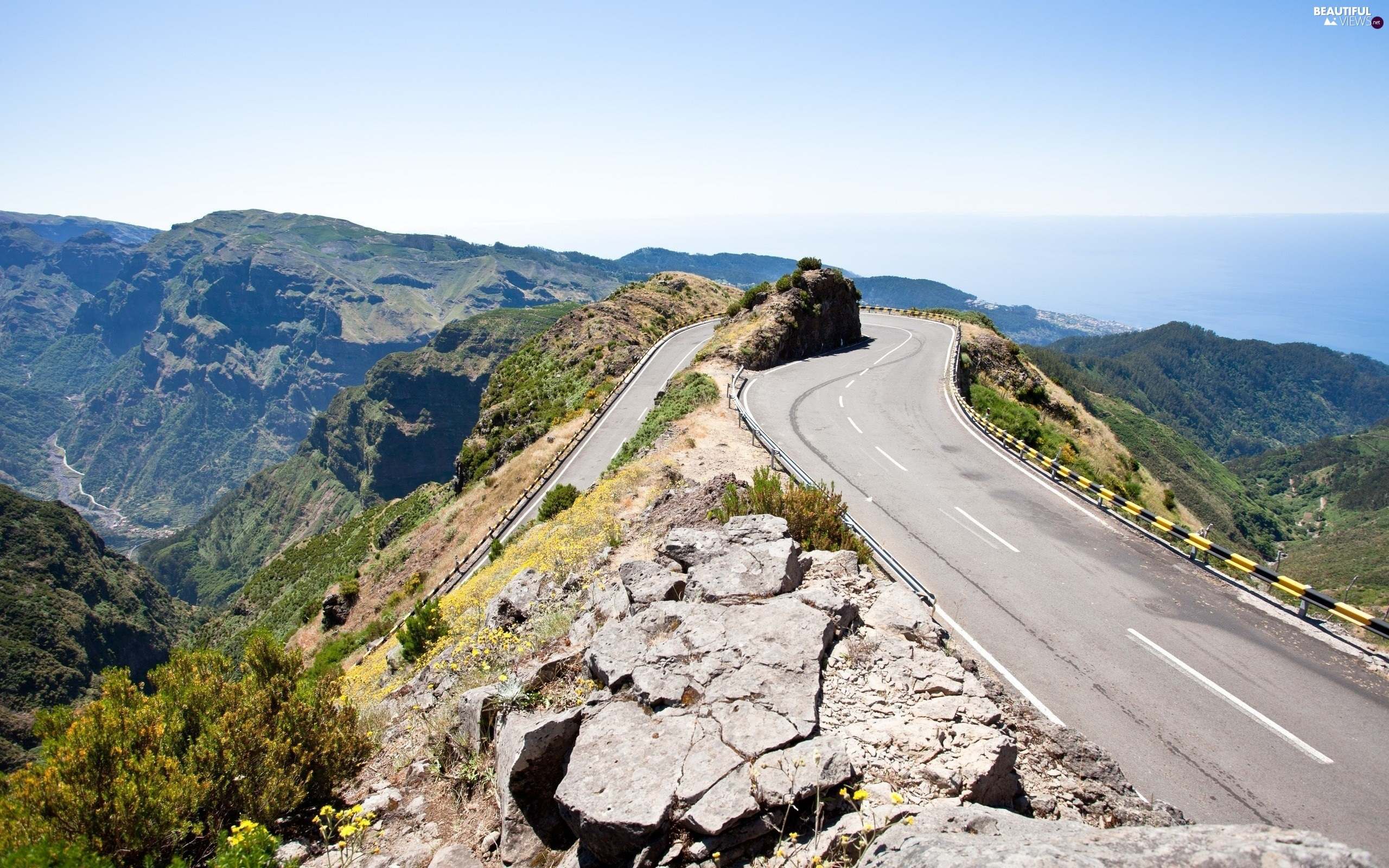 Sky, Way, Mountains