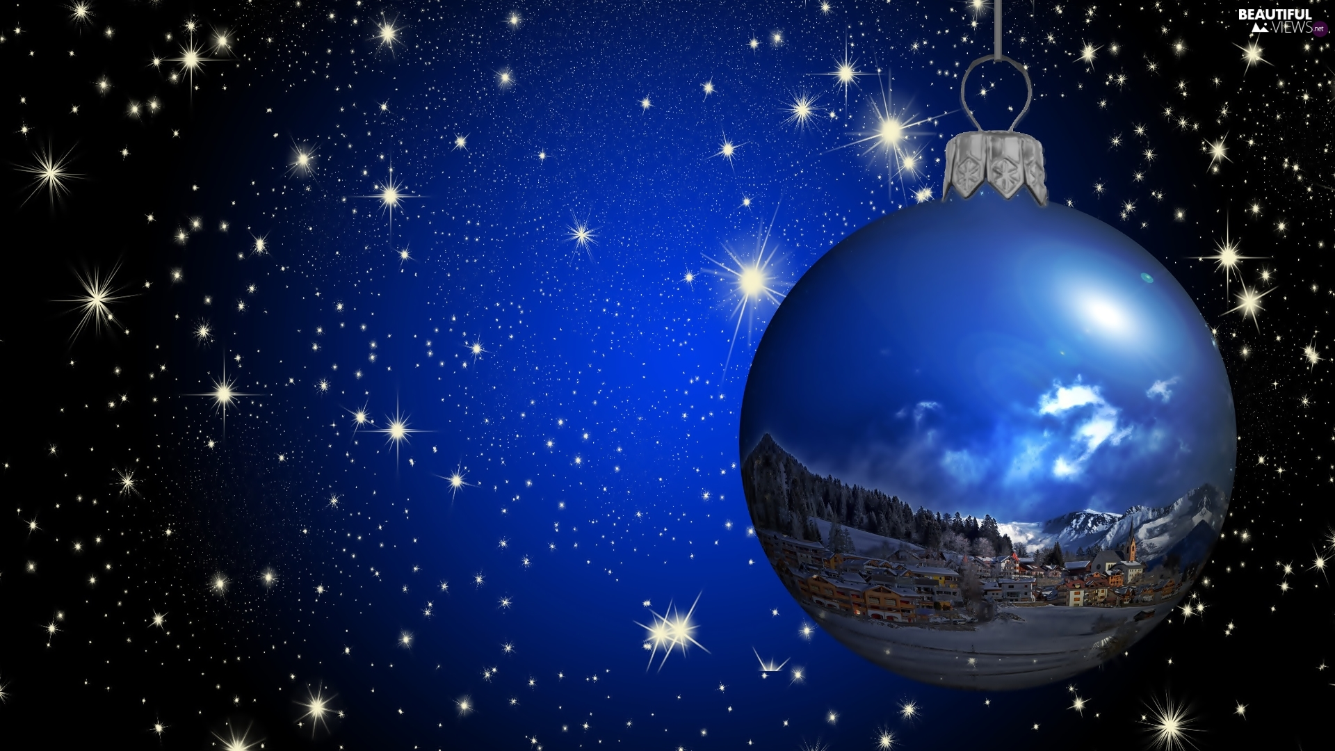 Sky, star, decoration, bauble, Christmas